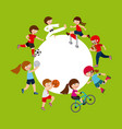 kids and sports design vector image vector image