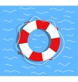Lifebuoy on the water Flat style vector image vector image