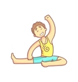 Man Doing Side Stretching Yoga Pose vector image vector image