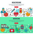 medicine and healthcare banners vector image vector image
