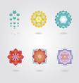 Mini Mandalas set vector image vector image