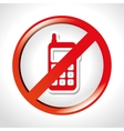 not use cell design vector image