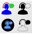 operator message eps icon with contour vector image