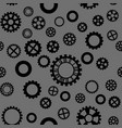 pattern with black gears on a dark gray background vector image vector image