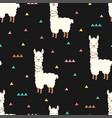 pattern with cute llama vector image vector image