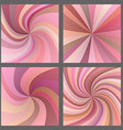 Pink spiral and starburst background design set vector image vector image