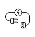 plug save energy icon outline style vector image