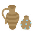 pottery symbols isolated clay jar and vase vector image vector image