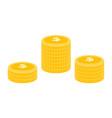 realistic dollar coin icon design template gold vector image