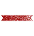 scratched textured striped ribbon vector image