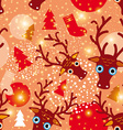 Seamless pattern New Year Christmas vector image vector image