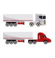 semi trailer truck vehicle transport vector image