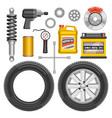 set auto parts vector image vector image