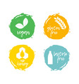 set of food labels - allergens food intolerance vector image vector image