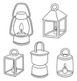 set of lantern vector image