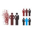 shredded pixel halftone team icon vector image vector image