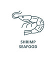 shrimpseafood line icon linear concept vector image vector image