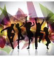 Silhouettes of people dancing vector | Price: 1 Credit (USD $1)