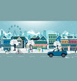 snow city vector image