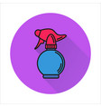 spray bottle simple icon on white background vector image vector image