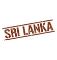 Sri Lanka brown square stamp vector image vector image