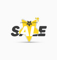star-shaped yellow sticker template for big sale vector image vector image