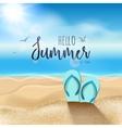 summer beach travel design sum with sand