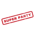 Super Party Rubber Stamp vector image vector image