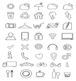 thin icons2 vector image