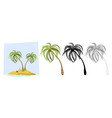 tropical palm trees a palm tree vector image