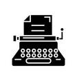 typewriter - writer - writing - copywriting icon vector image