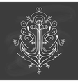 Vintage Hand Drawn Flourish Anchor vector image