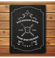 Vintage restaurant or cafe menu template vector image