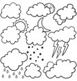 weather set style with cloud vector image