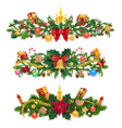winter holidays christmas decorations vector image vector image