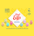 yellow template poster eggs vector image