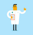 young caucasian white doctor with a clipboard vector image vector image