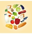 Healthy food design Organic icon Colorfull vector image