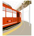 Train Platform Background vector image