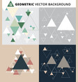 abstract geometric triangle set background vector image vector image