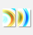 abstract wave background set wave acrylic vector image vector image