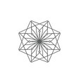 ancient geometric emblem for decorating your own vector image vector image