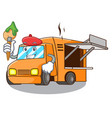 artist rendering cartoon of food truck shape vector image