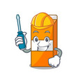 automotive package juice mascot cartoon vector image vector image