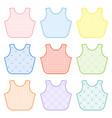 baby bibs set vector image vector image