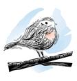 bird in linocut style vector image vector image