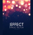 bokeh effect on transparent background shining vector image vector image
