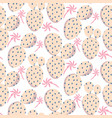 bold soft pink cactus seamless pattern vector image vector image