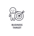 business target line icon outline sign linear vector image vector image