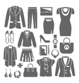 Businesswoman Clothes Set vector image